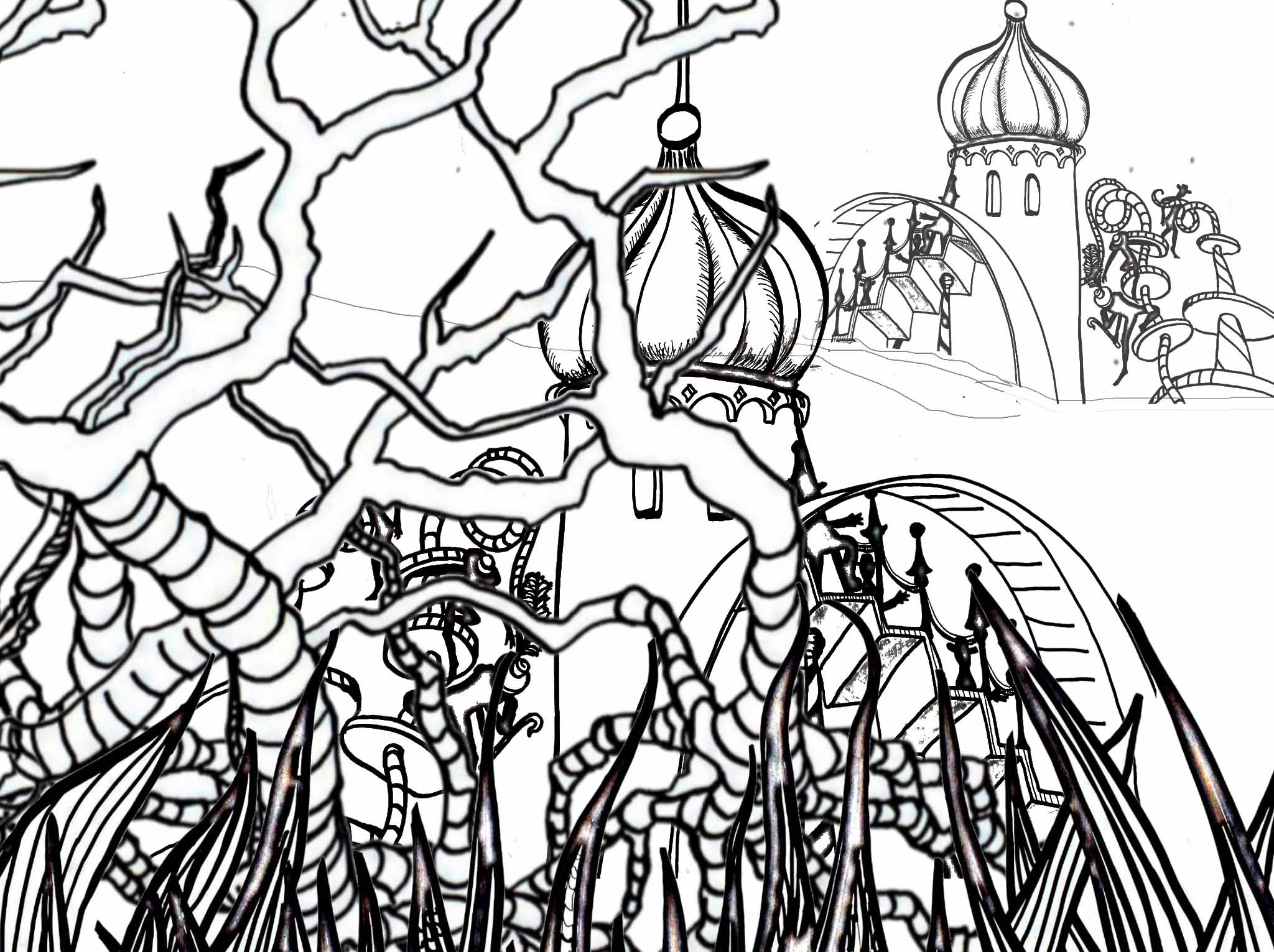 2048x1531 Drawing A Dr Seuss Inspired Cityscape Perspective