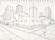 236x170 This Is Another 2 Point Perspective Drawing Of Some Buildings