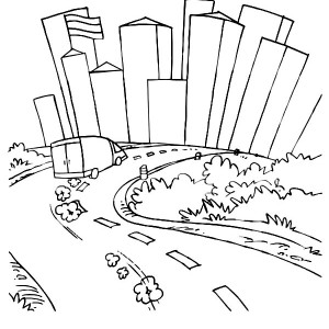 300x300 Chicago Skyline Coloring Page