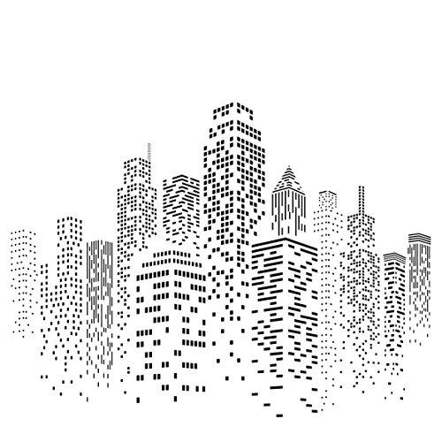 500x500 Skyscraper Stencil