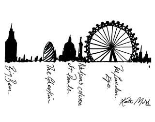 320x252 Kate Moss Draws The London Eye London Eye