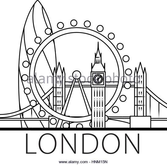 547x540 London Skyline Illustration Black And White Stock Photos Amp Images