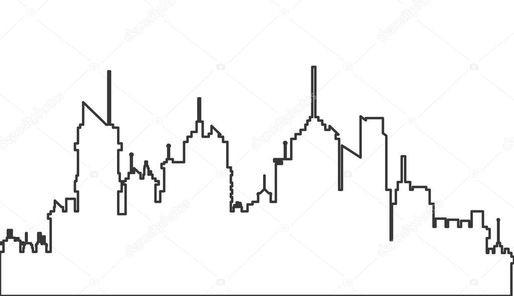 1024x591 City Skyline Icon Stock Vector Jemastock