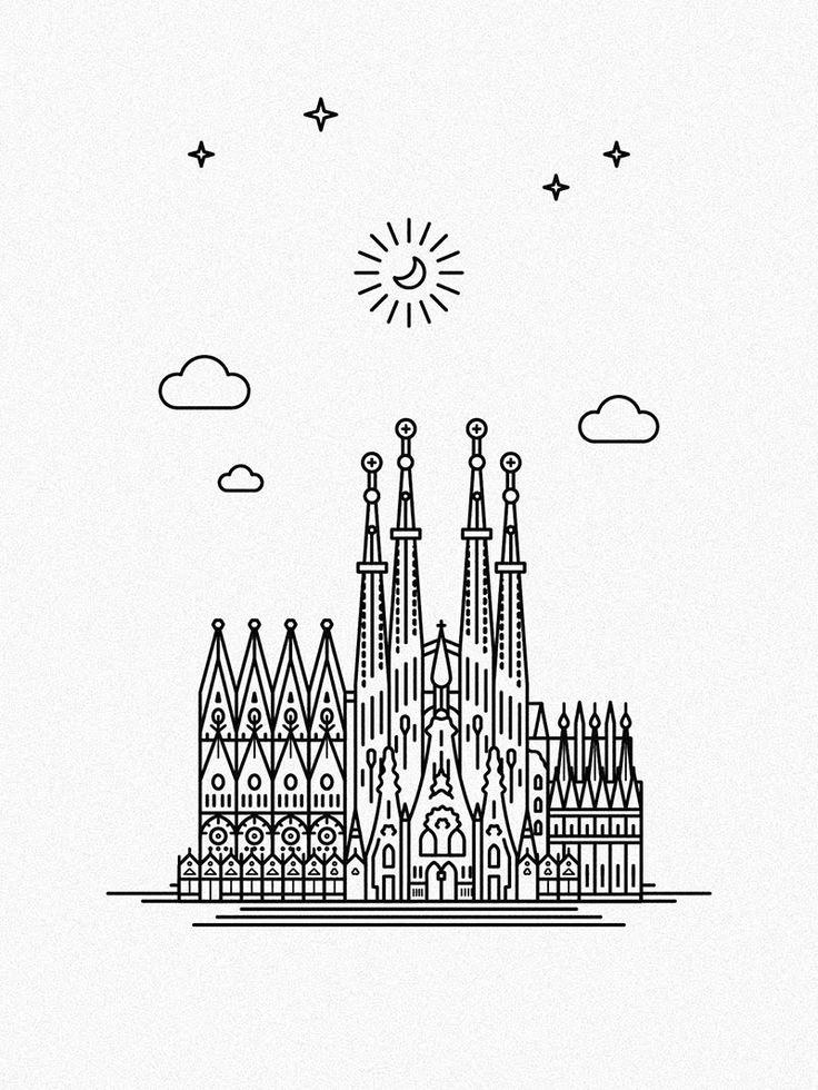 736x980 Sagrada Familia Cool Stuff Art Boards, Tattoo