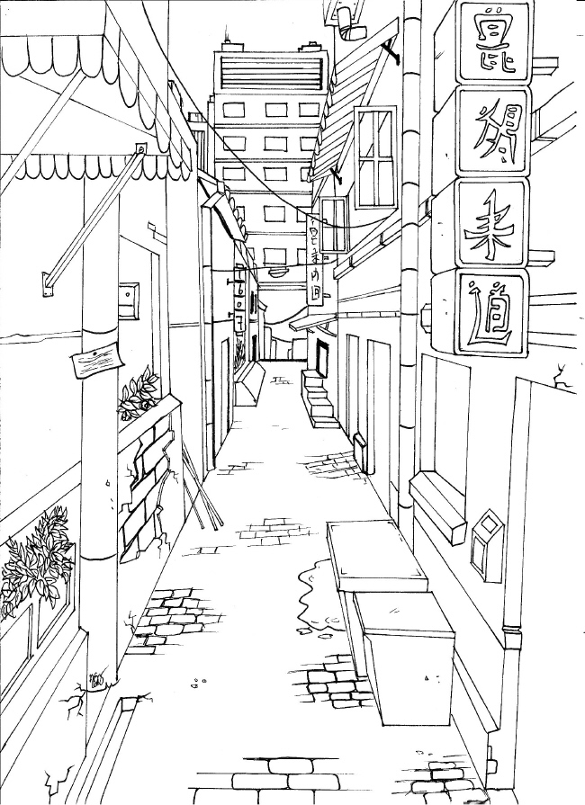 650x895 Japanese City
