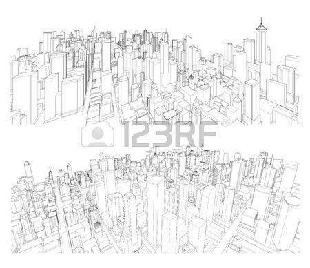 450x389 Cityscape Sketch. Architecture