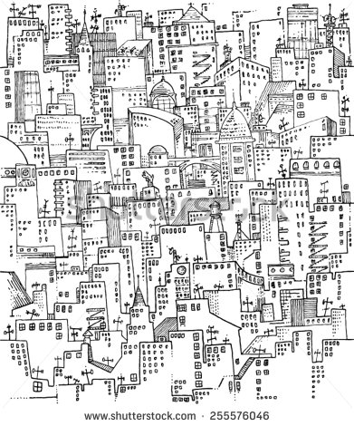 391x470 City Patterns Buildings Houses Cityscape Windows Rooftop Crowd