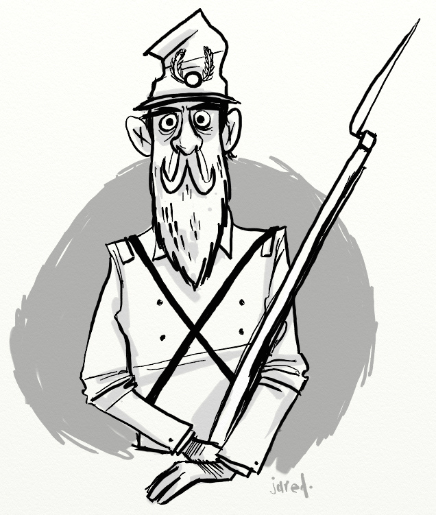 636x751 Civil War Soldier A Quick Sketch. There Is Nothing