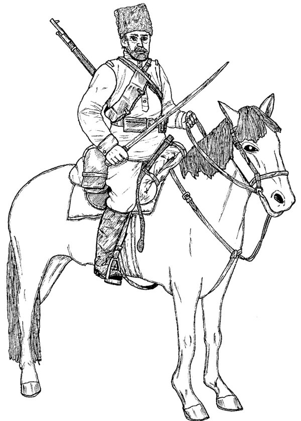 600x840 Cossack, Russian Civil War By Linseed