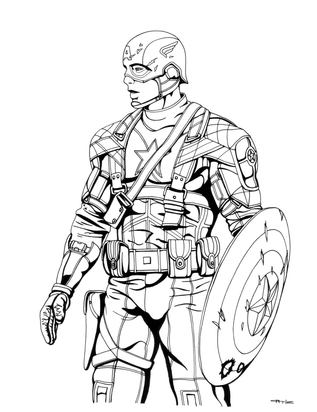 1024x1332 Gallery Of Captain America Coloring Pages Civil War Movie