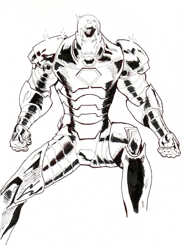 2214x2950 Iron Man, En La Civil War. My Drawings