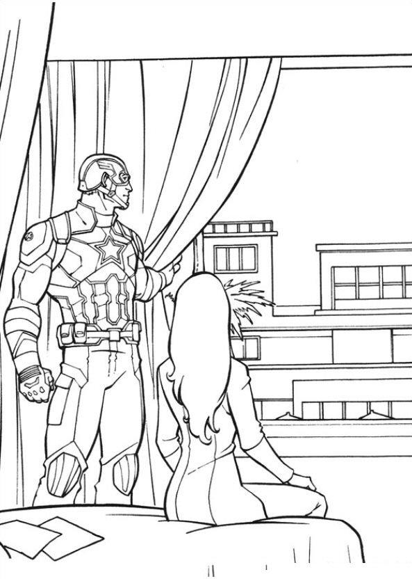 593x832 Kids N Fun Coloring Page Captain America Civil War Captain