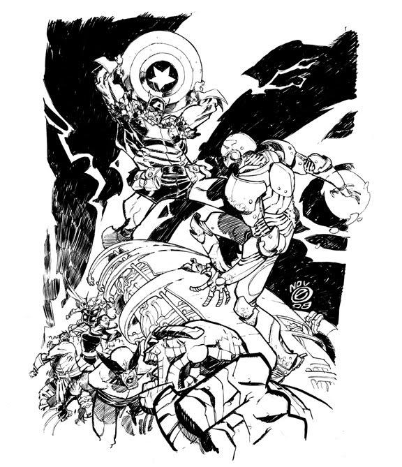 576x669 Marvel Civil War By Eric Canete Comic Art Canete