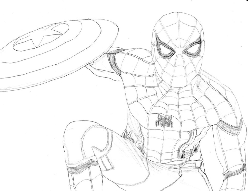 1017x786 Spider Man (Captain America Civil War) By Homer311