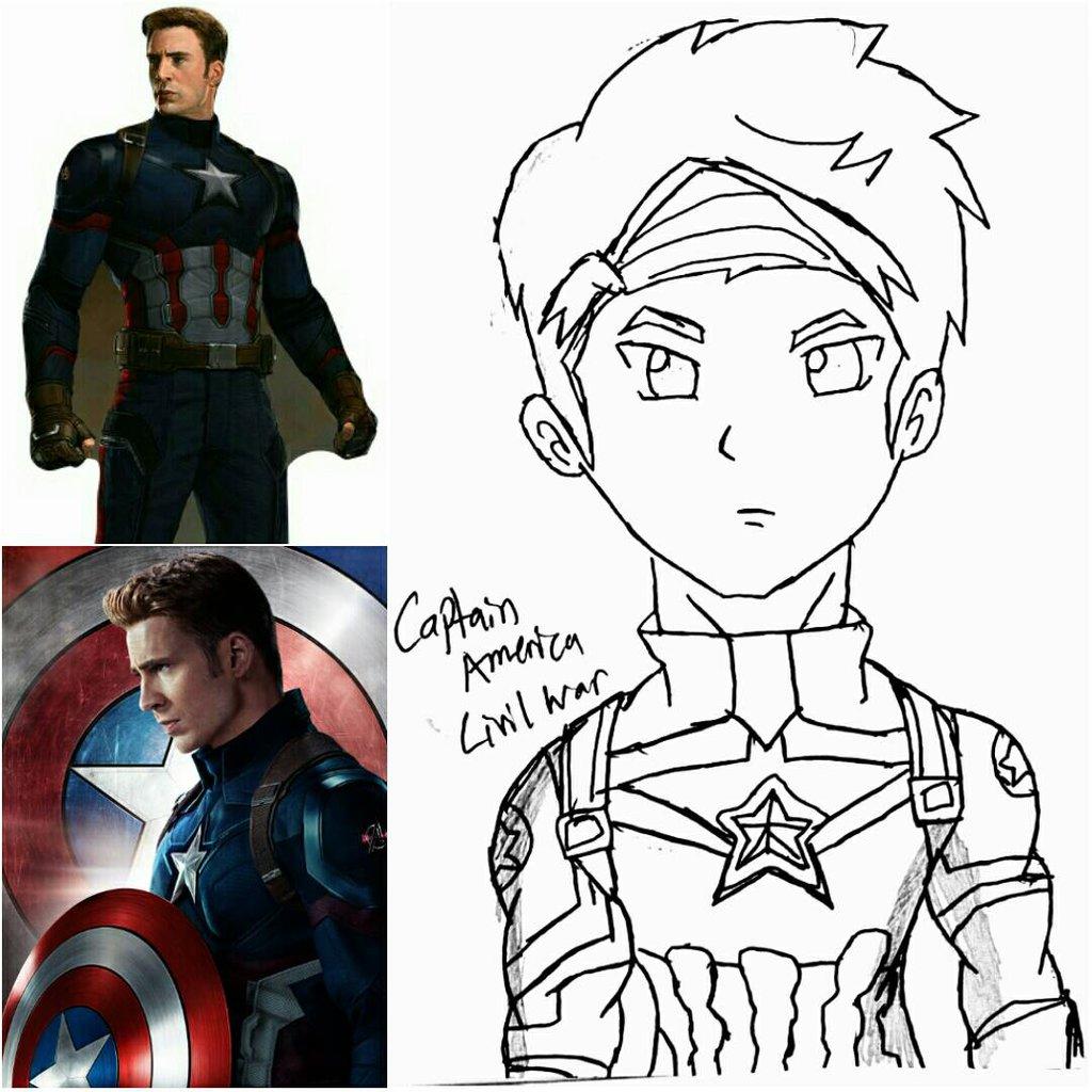1024x1024 Captain America Civil War Captain America By 13josh16