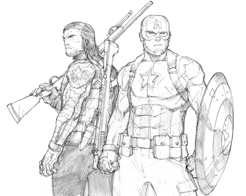 Famoso Dibujos Para Colorear Capitán América Guerra Civil Regalo ...