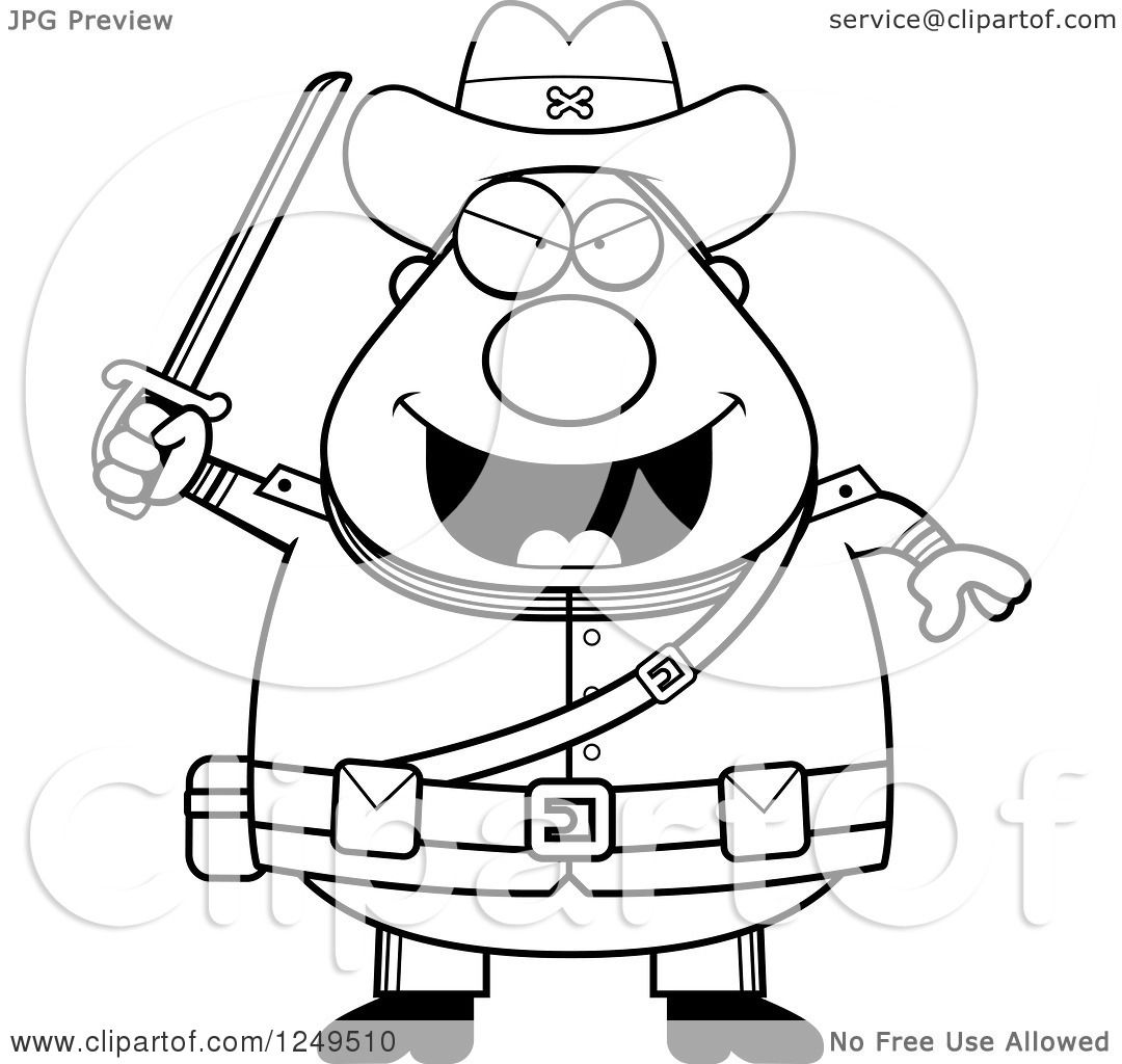 1080x1024 Clipart Of A Black And White Chubby Civil War Confederate Soldier