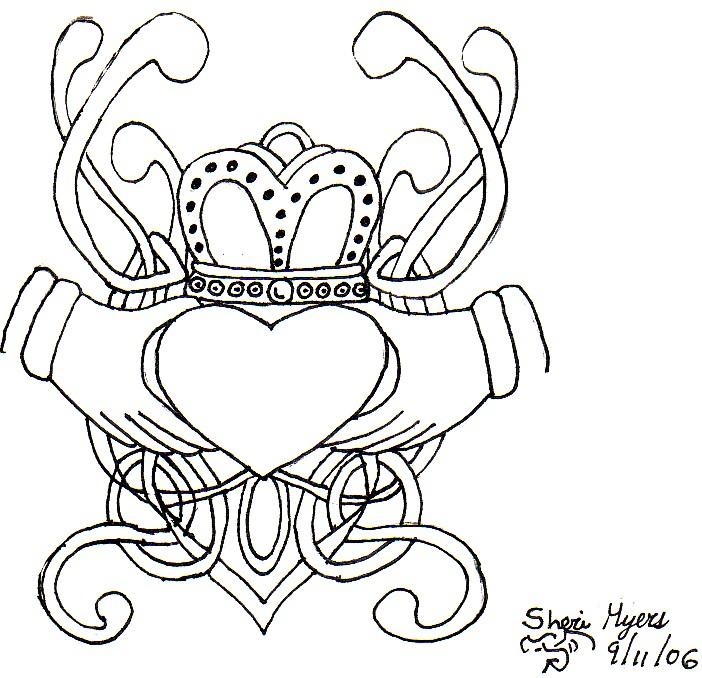 702x678 Claddagh Tattoo By Moonmochi02