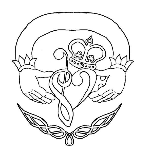 600x600 Music Claddagh Tattoo By Moonmochi02