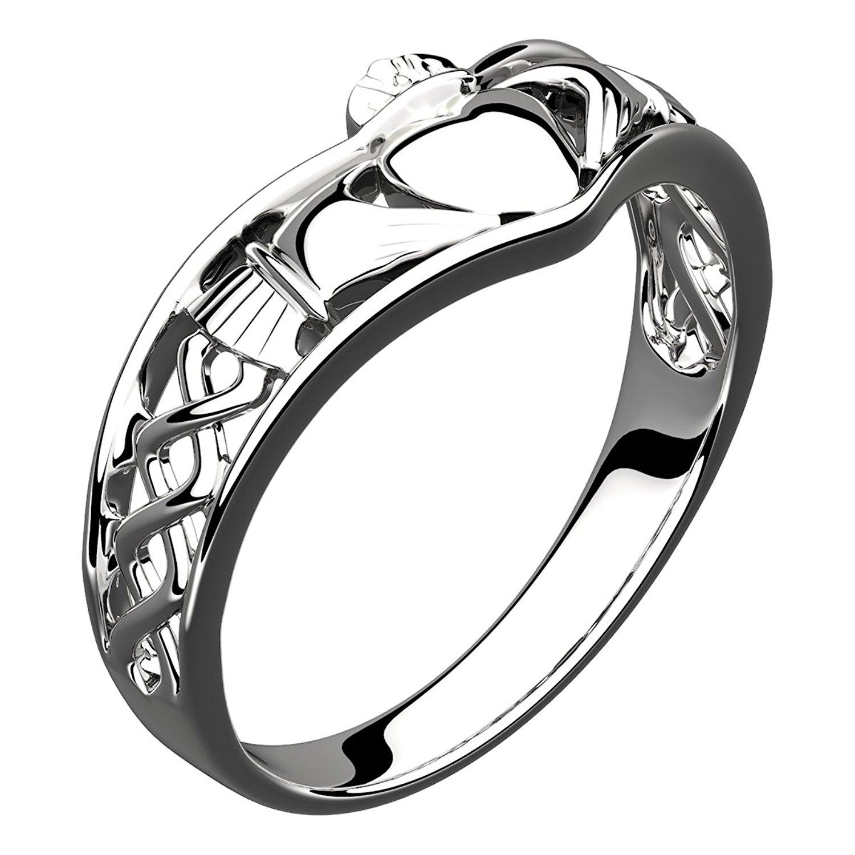 1500x1500 Sterling Silver Claddagh Wishbone Ring, Symbol Of Friendship, Love