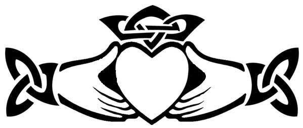 599x253 Trinity Knot Amp Claddagh Tattoo The Claddagh Is An Irish Symbol