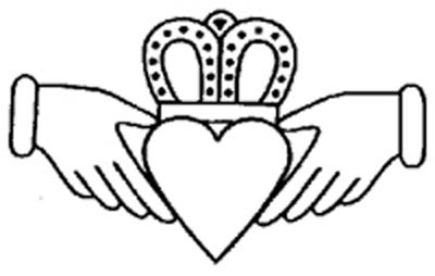 400x254 Claddagh Ring Outline