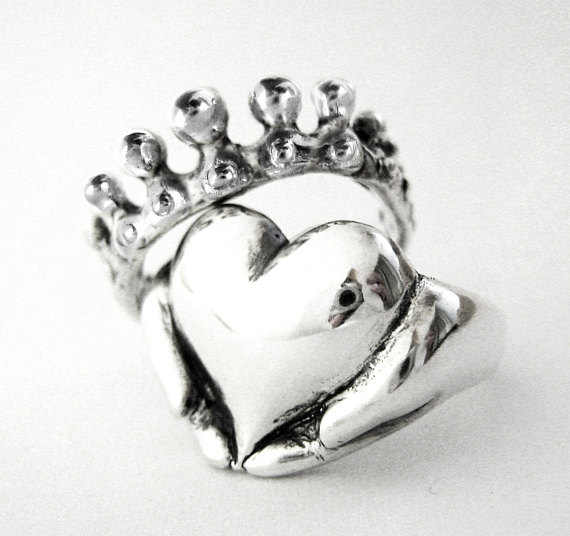 570x536 Claddagh Stacking Rings Alternative Stacking Engagement Ring