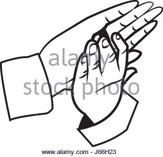 331x320 A Vector Illustration Of Clapping Hands Stock Vector Art