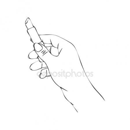 450x450 Clapping Hands Or Applauding, Linear Illustration Or Sketch By
