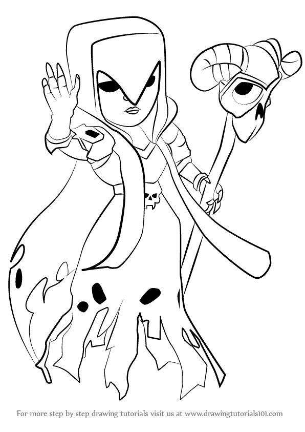 596x843 Clash Royale Witch Coloring Pages Ice Wizard Clash Royale Coloring