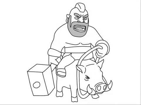 480x360 How To Draw Clash Of Clans Characters Hog Rider