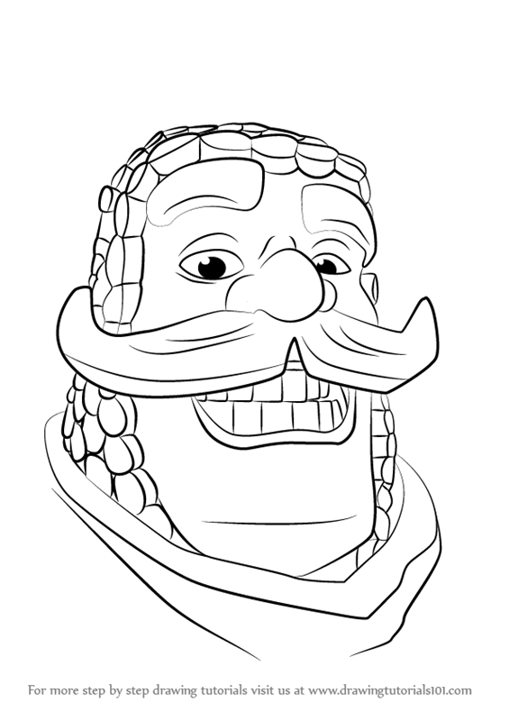 565x800 Learn How To Draw Knight From Clash Royale (Clash Royale) Step By