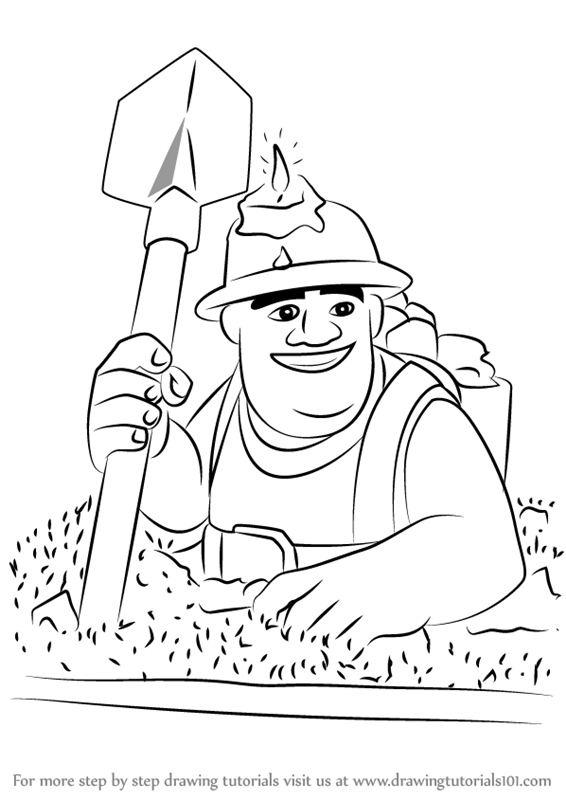 566x800 learn how to draw miner from clash of the clans clash of the