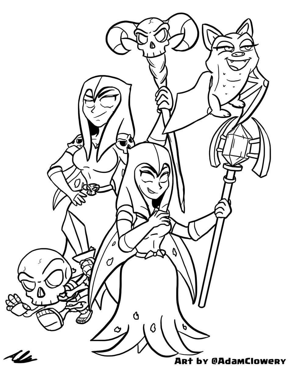 952x1200 Adam Clowery On Twitter Quick Doodle Of Some Witches