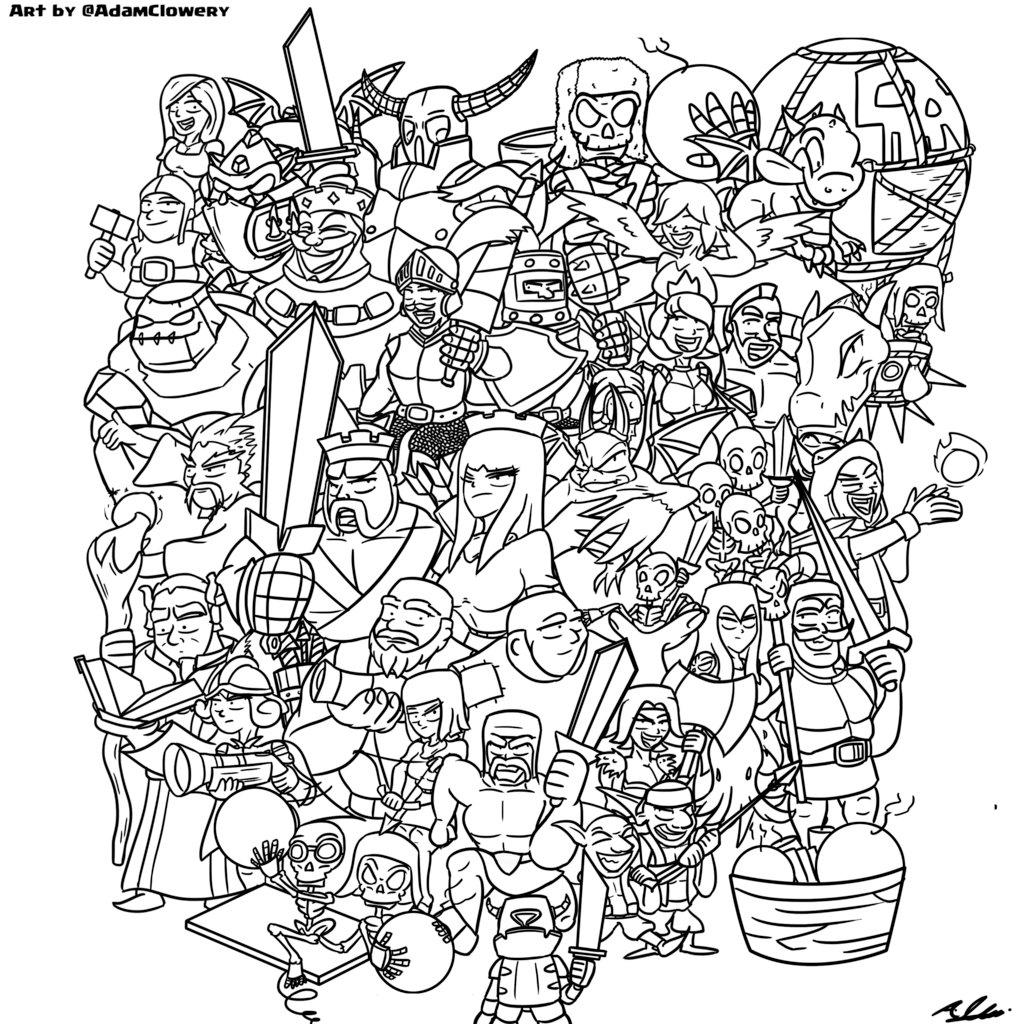 1024x1024 The Clash Universe By Adam Clowery
