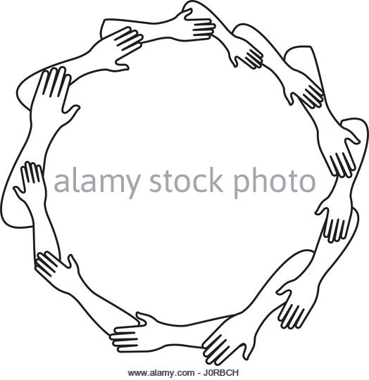 524x540 Unity Hands Black And White Stock Photos Amp Images