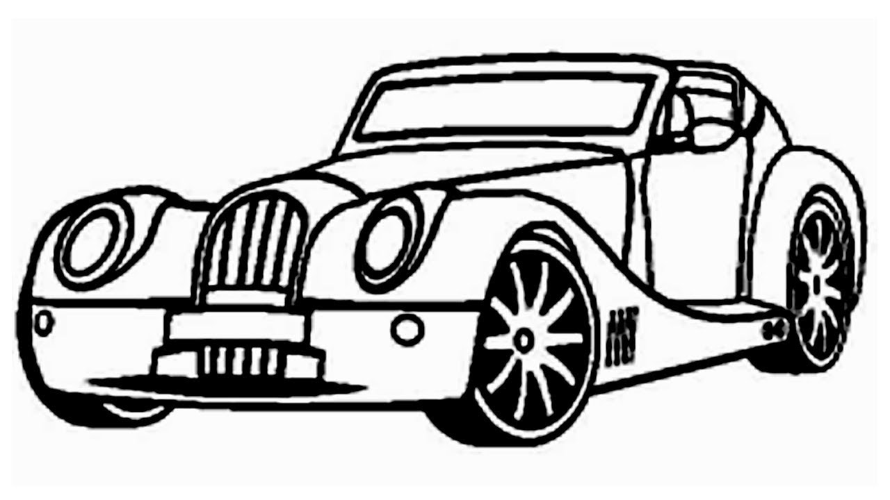 1280x720 Coloring Pages How To Draw A Car