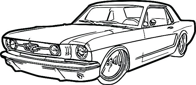 640x280 Lovely Classic Car Coloring Book