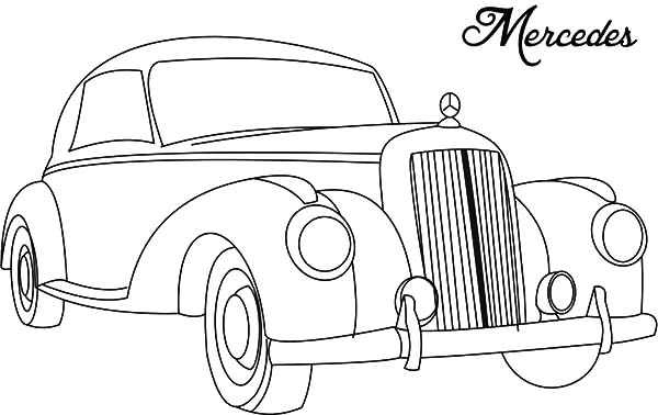600x378 Mercedes Classic Car Coloring Pages