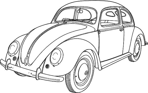 600x380 Classic Car Collector Beetle Car Coloring Pages Best Place To Color