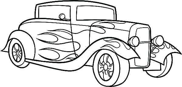 600x287 Classic Car Coloring Pages For Classic Car Coloring Pages Classic