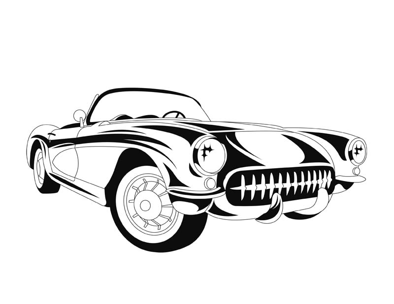 Line Drawing Car : Classic car line drawing at getdrawings.com free for personal use