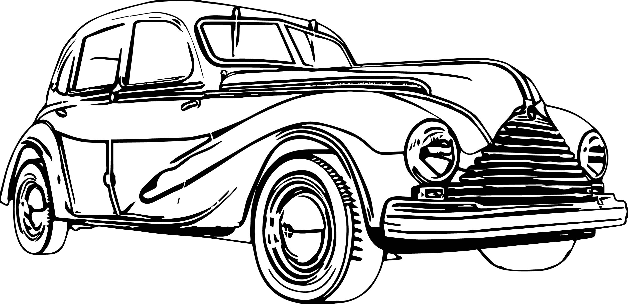 2507x1214 Small Vintage Antique Car Coloring Page Wecoloringpage