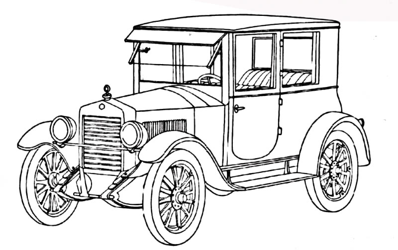 Classic Car Line Drawing at GetDrawings | Free download