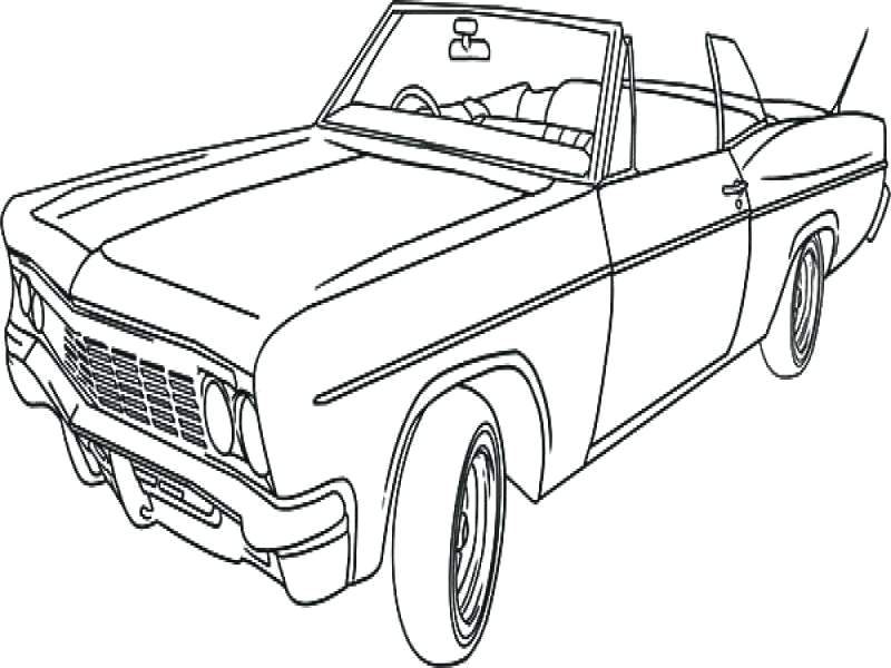 800x600 Classic Cars Coloring Pages Classic Car Coloring Book Muscle Car