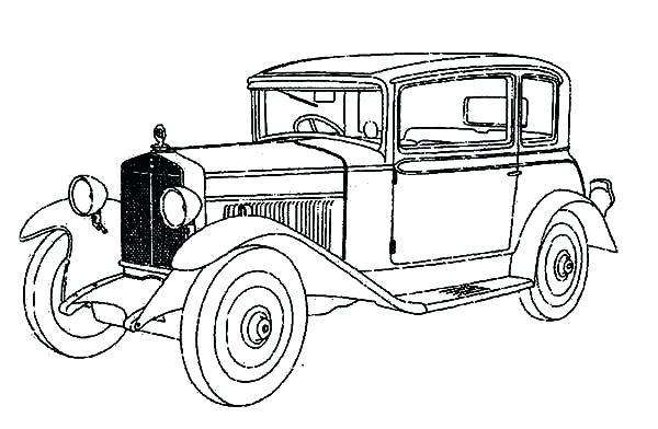 600x392 Classic Cars Coloring Pages Old Truck Coloring Pages Free Coloring