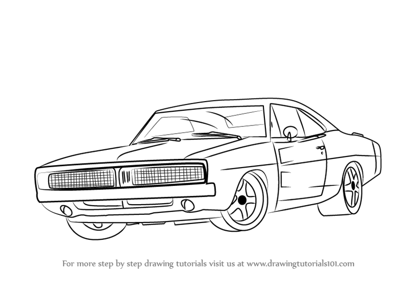 800x565 Learn How To Draw A 1969 Dodge Charger (Cars) Step By Step