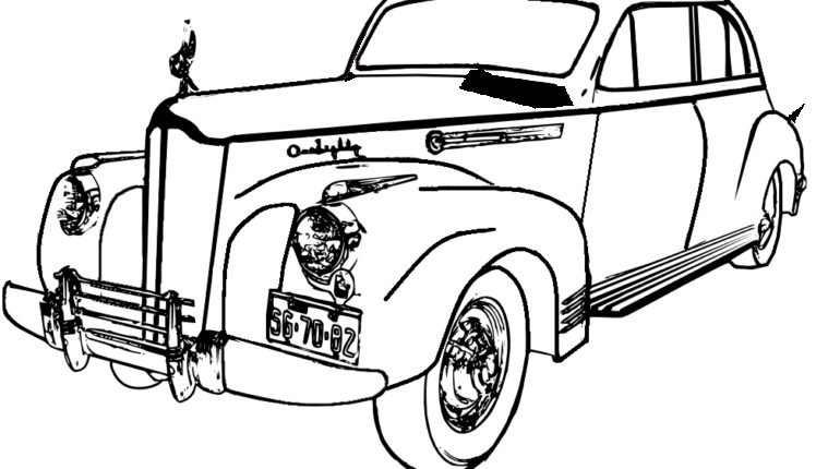 770x430 Old Cars Coloring Pages