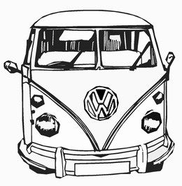260x266 Cars Amp Transport Vw Camper Front View Traffic Wall Stickers