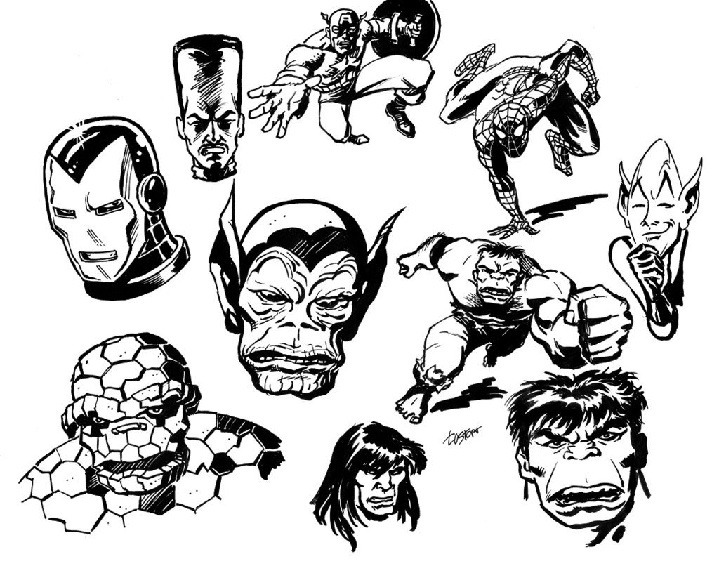 1024x806 Classic Marvel Sketches 2 By Lostonwallace